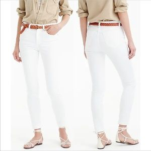 J. Crew lookout high rise skinny crop white jeans